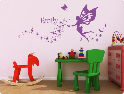 wandtattoo kinderzimmer wandsticker kinder fee elfe 232 ebay. Black Bedroom Furniture Sets. Home Design Ideas